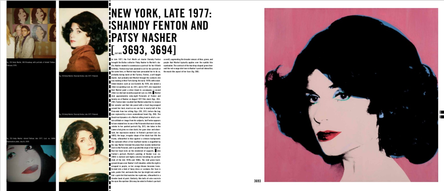 By Neil Printz, Sally King-Nero from The Andy Warhol Catalogue Raisonne, Paintings 1976-1978 copyright Phaidon 2018