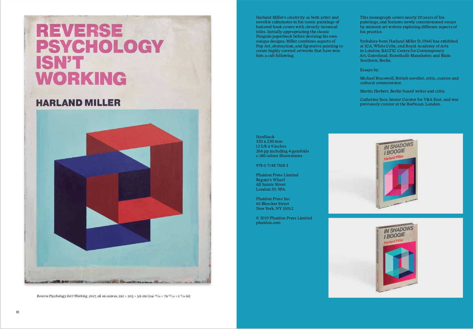 By Michael Bracewell, Martin Herbert, Catherine Ince from Harland Miller: In Shadows I Boogie copyright Phaidon 2019