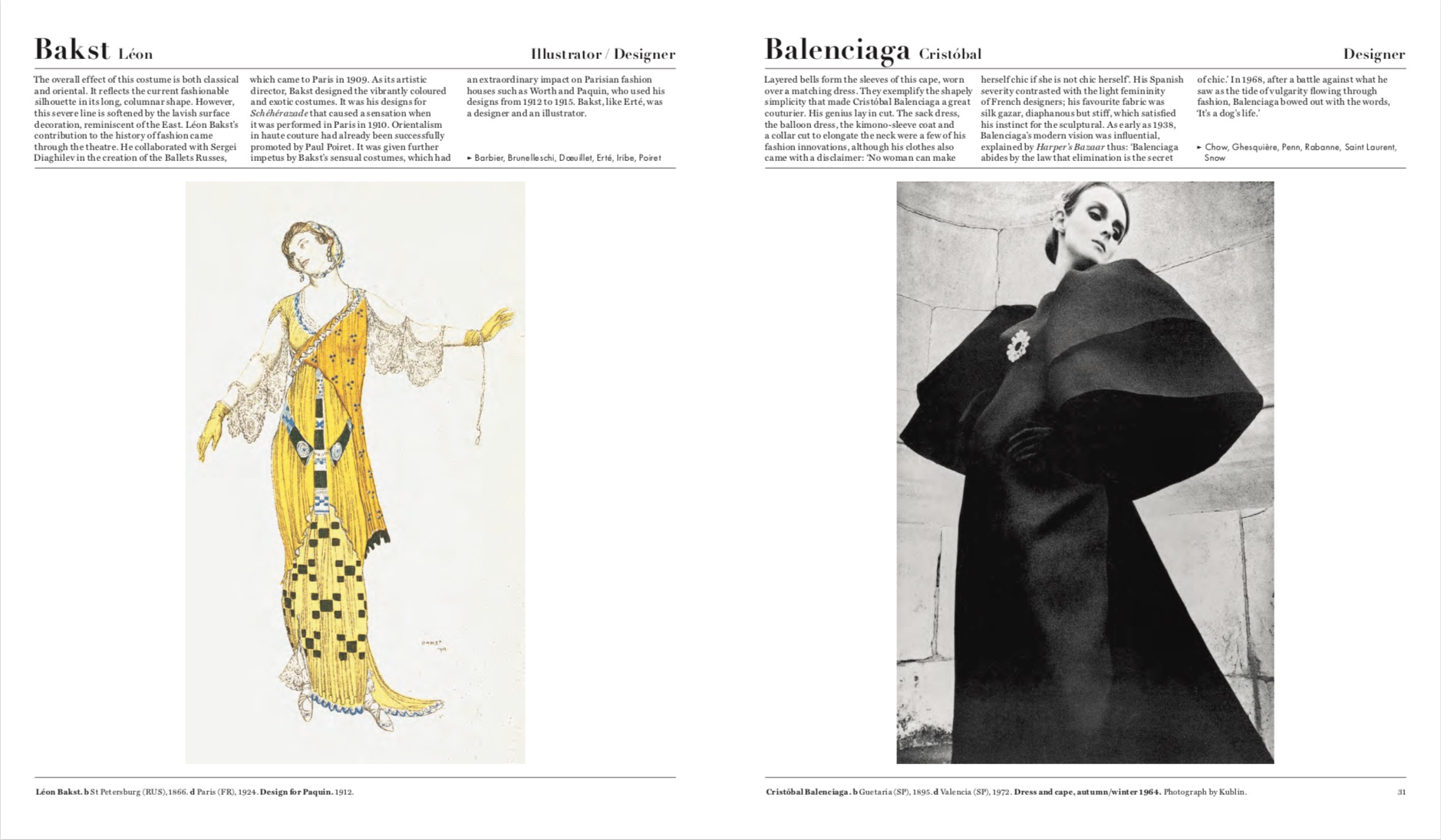 By Caroline Kinneberg, Laura Gardner and Phaidon editors from The Fashion Book copyright Phaidon 2016