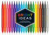 Bright Ideas: 20 Double-Ended Colored Brush Pens 20 Colored Pens