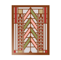 Frank Lloyd Wright Tree of Life Large Embellished Notecards