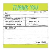 Handlettered Sticky Note Thank You