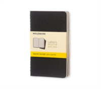 Moleskine Squared Cahier - Black Cover (3 Set)