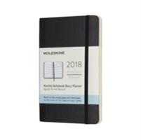 2018 Moleskine Pocket Monthly Notebook Diary 12 Months Soft