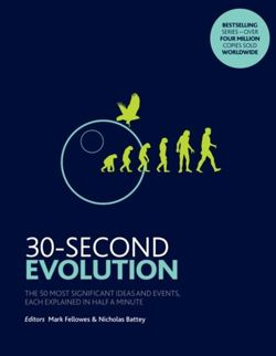 30-Second Evolution : The 50 most significant ideas and events, each explained in half a minute