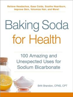 Baking Soda for Health 100 Amazing and Unexpected Uses for Sodium Bicarbonate