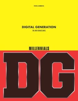 Dolce & Gabbana - Generations - Millennials - The New Renaissance