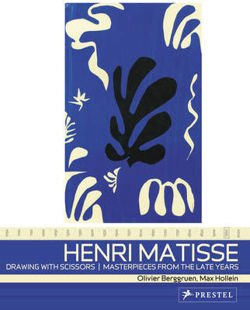Henri Matisse: Drawing with Scissors Masterpieces from the Late Years