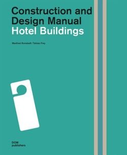 Hotel Buildings. Construction and Design Manual