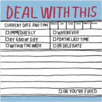 Deal with This Hand-Lettered Sticky Note