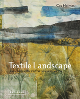 Textile Landscape Painting with Cloth in Mixed Media