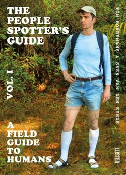 The The People Spotter's Guide Vol. 1 A Field Guide to Humans