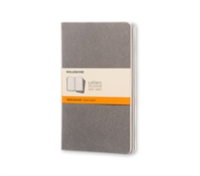 Moleskine Pebble Grey Ruled Cahier Large Journal (3 Set)