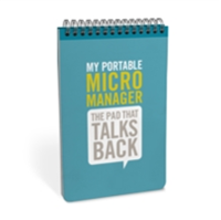 Portable Micromanager Personality Pad The Pad That Talks to You!