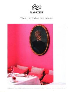 1820 Magazine - The Art of Italian Gastronomy Issue 1