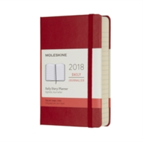 2018 Moleskine Scarlet Red Pocket Daily Diary 12 Months Hard