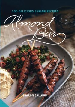 Almond Bar 100 Delicious Syrian Recipes