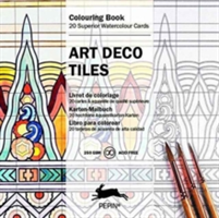 Art Deco Tiles Colouring Card Book