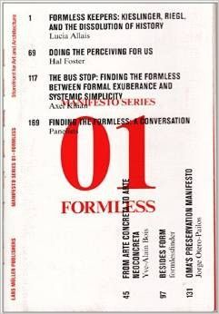 Formless Storefront for Art and Architecture Manifesto Series 1