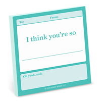 Knock Knock I Think You're So . . . Fill in the Love Sticky Notes