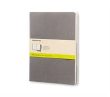 Moleskine Pebble Grey Plain Cahier Extra Large Journal (3 Set)