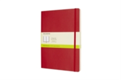Moleskine Scarlet Red Extra Large Plain Notebook Soft