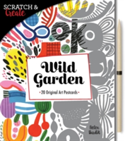 Scratch & Create: Wild Garden 20 original art postcards